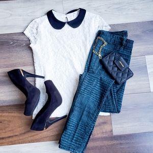 Calvin Klein patterned jeans